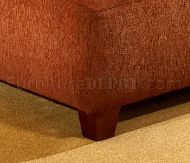Terracotta Fabric Modern Sectional Sofa W Optional Ottoman