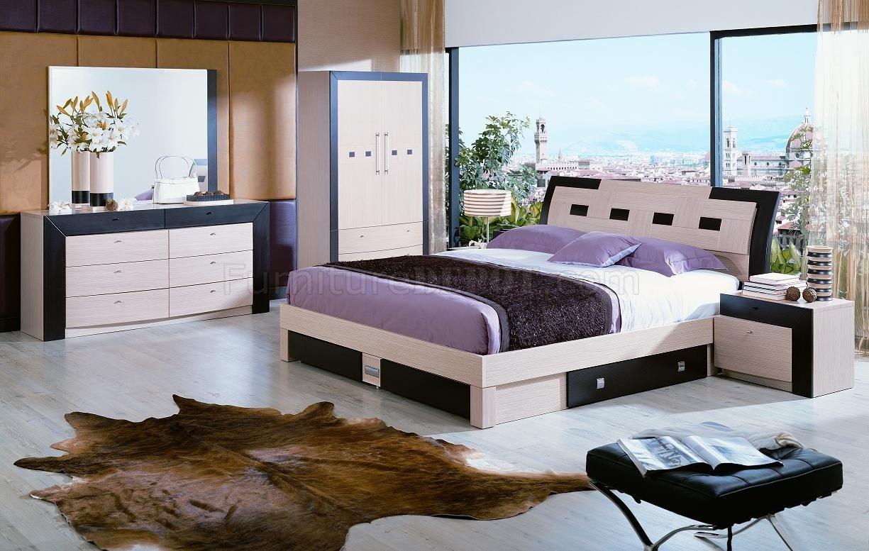 Wenge Living Room Furniture Modern Bedroom Set Concorde Beige Wenge