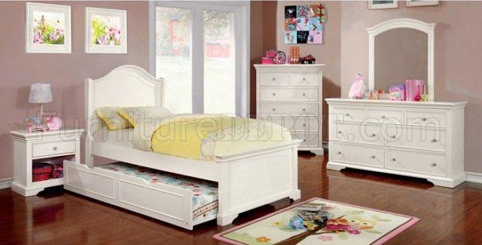 Mullan Cm7943 4pc Kids Bedroom Set In White W Options
