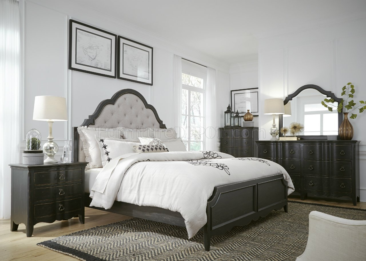 - Chesapeake Bedroom 493-BR-QUB 5Pc Set Antique Black By Liberty