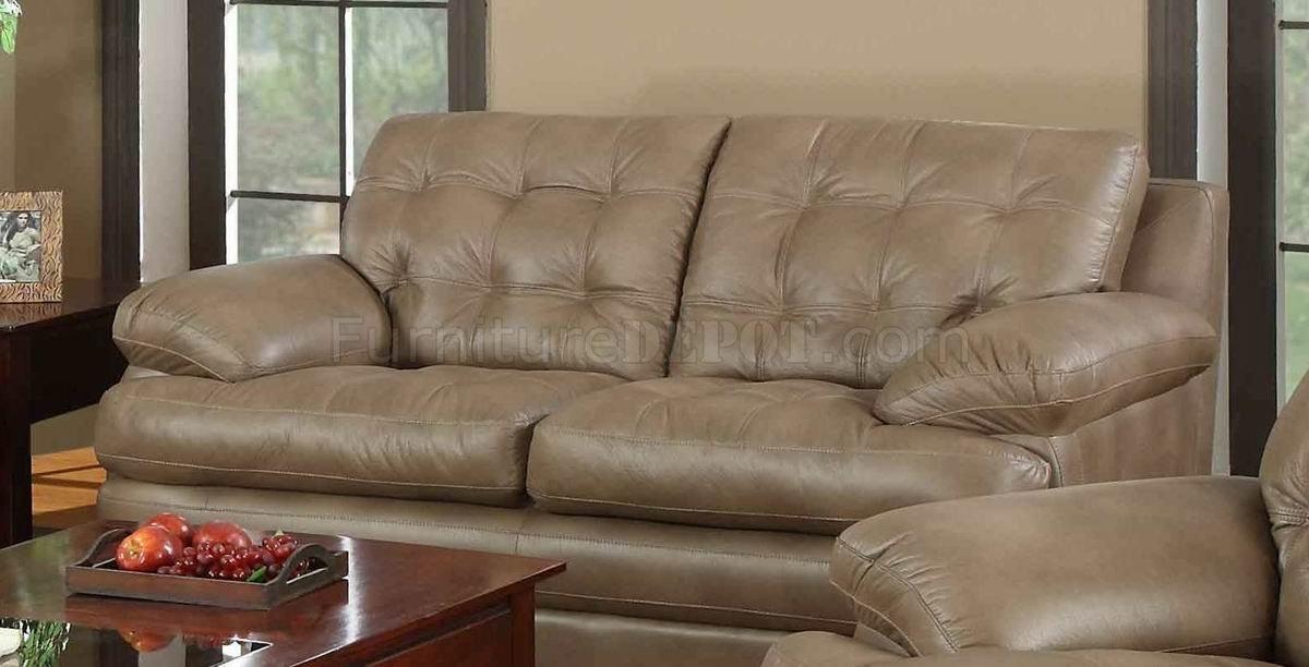 Dark Beige Bonded Leather Modern Sofa Amp Loveseat Set W Options