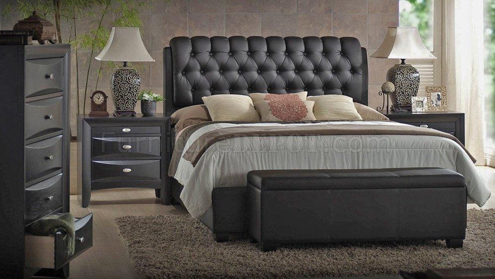 Bedroom Furniture Ireland 14350 ireland bedroom blackacme w/upholstered bed & options