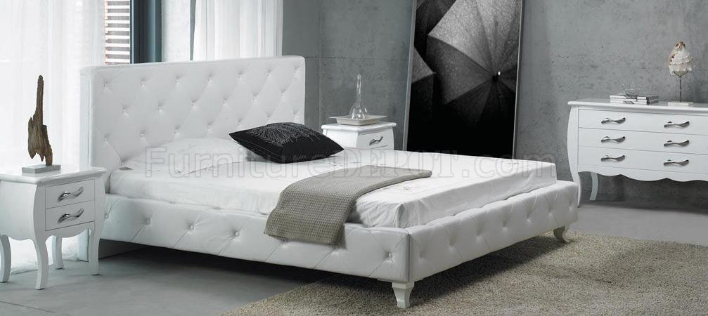white or black furniture. White Or Black Leatherette Modern 4Pc Bedroom Set W/Crystals Furniture L