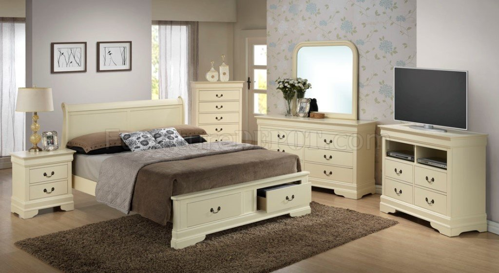 G3175d Bedroom By Glory Furniture In Beige W Storage Bed