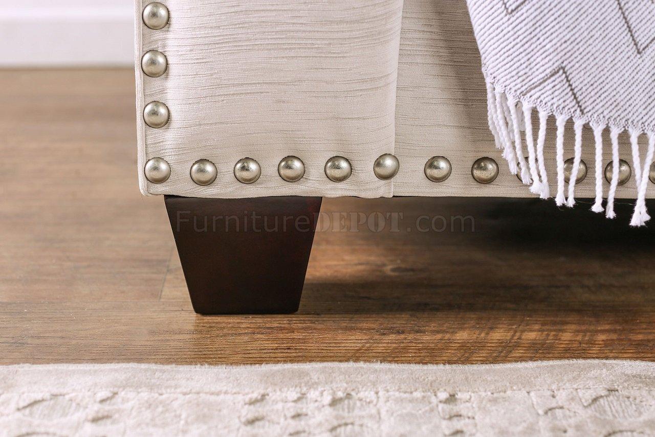 Stefano Sofa SM8220 In Light Mocha Fabric W/Options FAS SM8220 Stefano