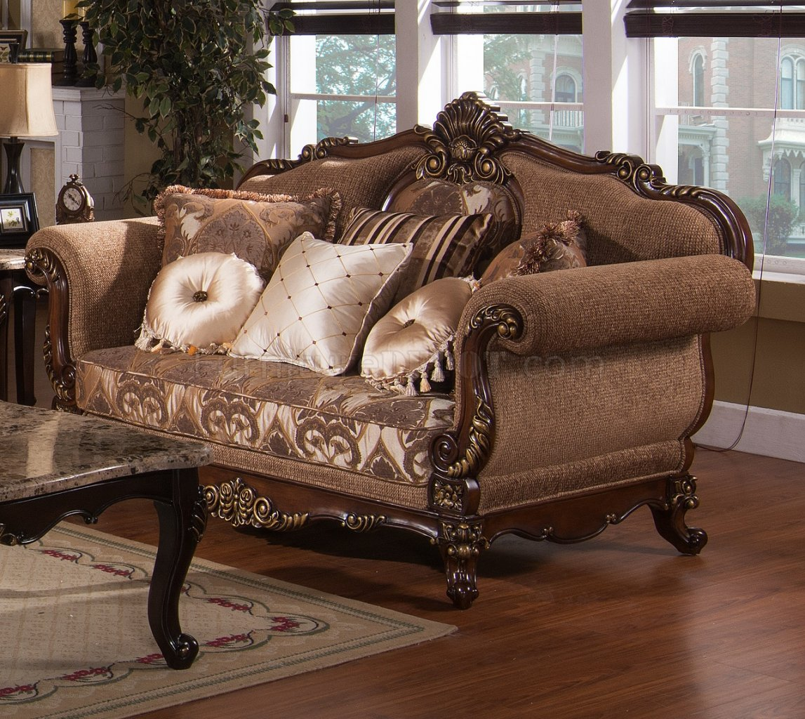 Cecilia Traditional Sofa In Fabric W Optional Items