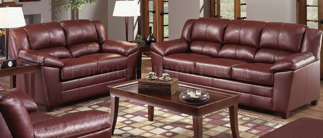 Magnificent Wine Color Bonded Leather Modern Living Room W Wooden Legs Uwap Interior Chair Design Uwaporg