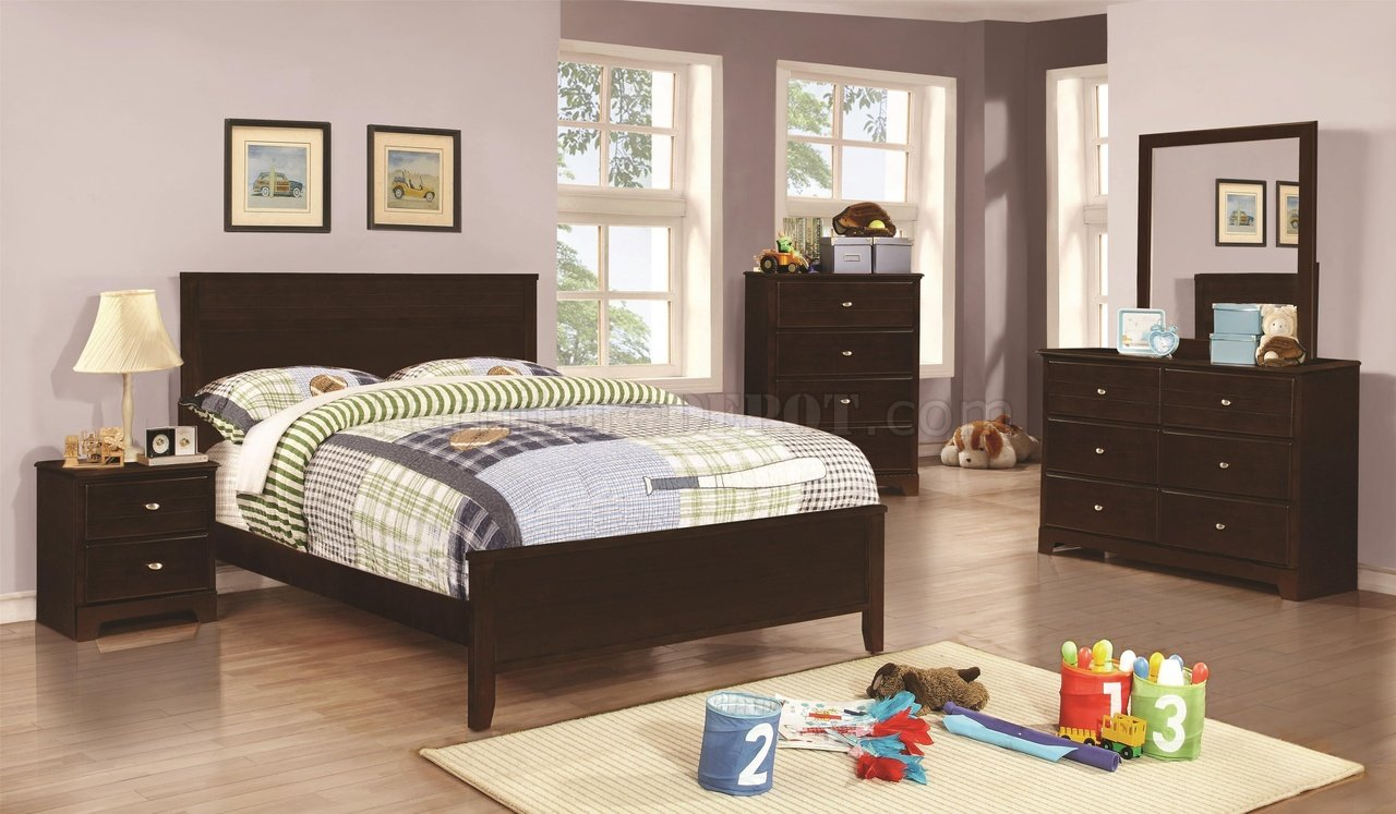 400771 Ashton Kids Bedroom 4pc Set In Cappuccino By Coaster