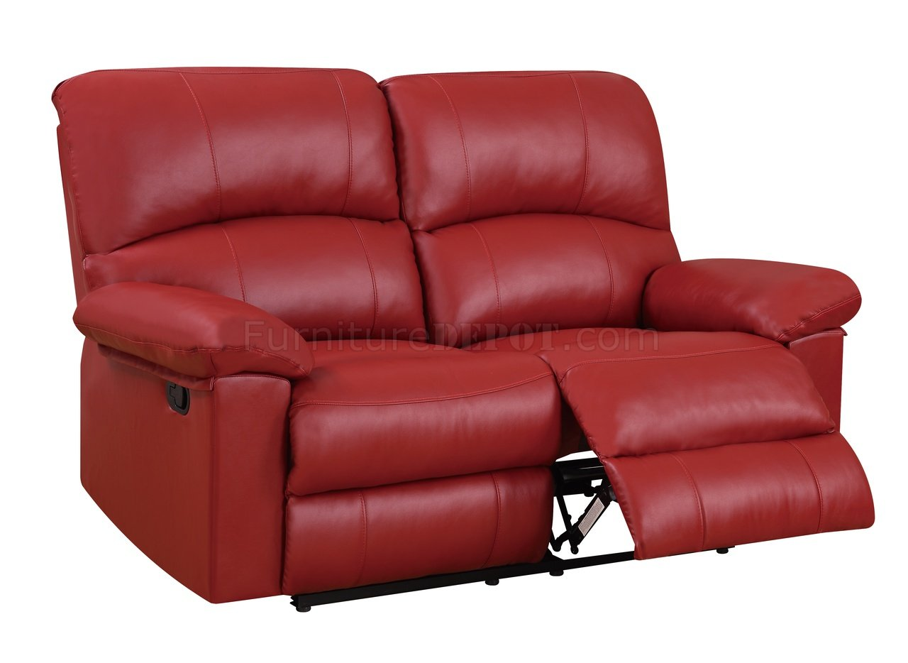 U99270 R Motion Sofa In Red Pu By Global W Options