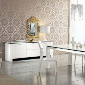 Diamond White Dining Table by Rossetto w/Options