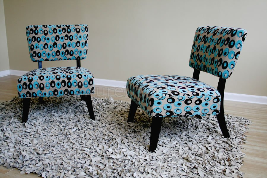 & Colored Fabric Upholstery Contemporary Club Chair