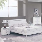 Emily Bedroom in White High Gloss by Global w/Options