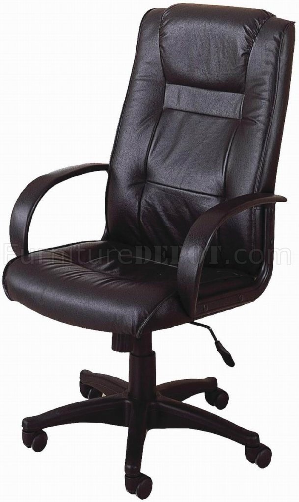 Black Leather Modern Executive Office Chair W Gas Lift