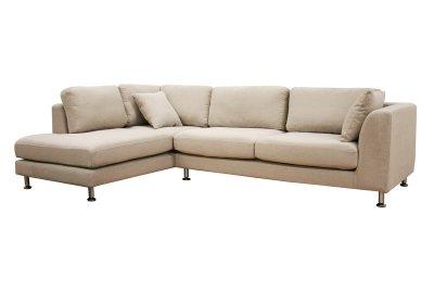 twill fabric modern sectional sofa sterling cream