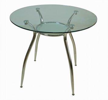 Glass top amp metal legs modern elegant round dining table grds b 007