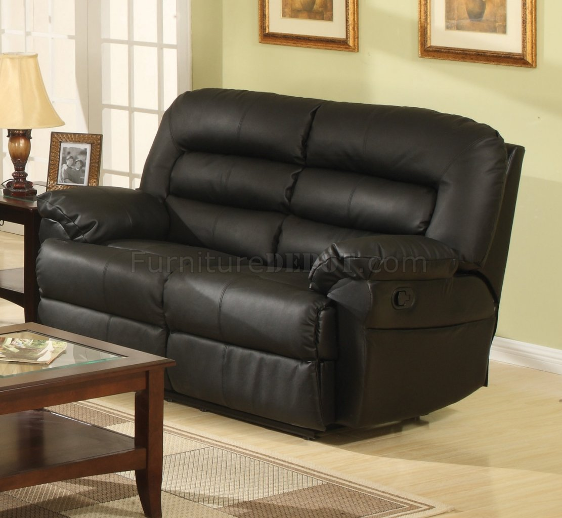 black bonded full leather modern reclining sofa w optional items wds