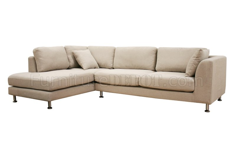 Twill fabric modern sectional sofa sterling cream Cream fabric sofa