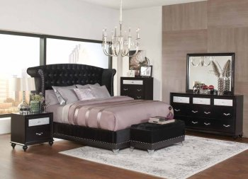 Barzini 300643 Bedroom In Black By Coaster W Options Crbs