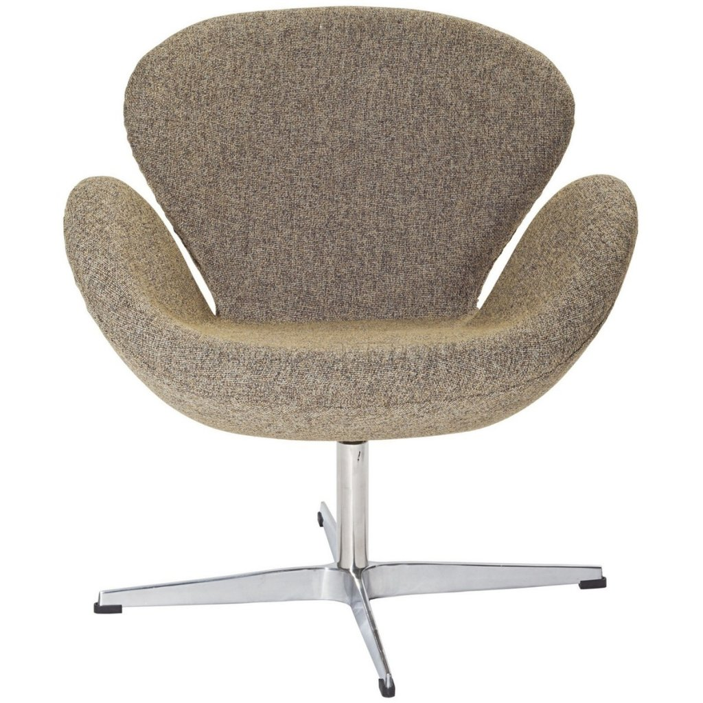 Wing Swivel Lounge Chair Choice Of Color Fabric By Modway