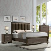 cyrille bedroom set 5pc in walnut by acme woptions new