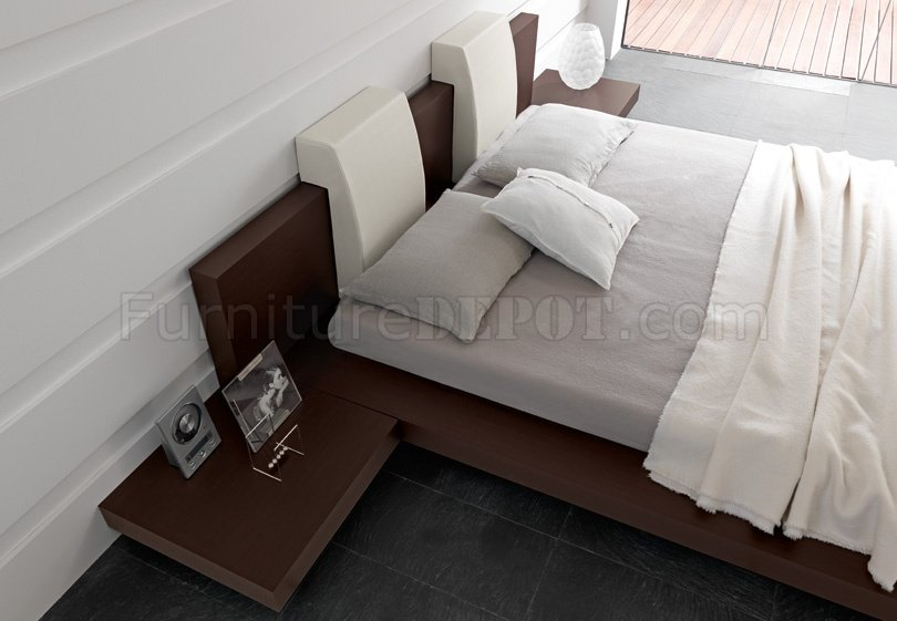 Win floating wenge bedroom set by rossetto w options - Floating chair for bedroom ...