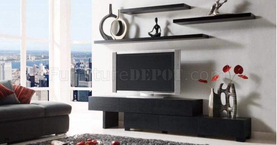 Loft Modern Wenge Tv Stand By Creative W Optional Shelves