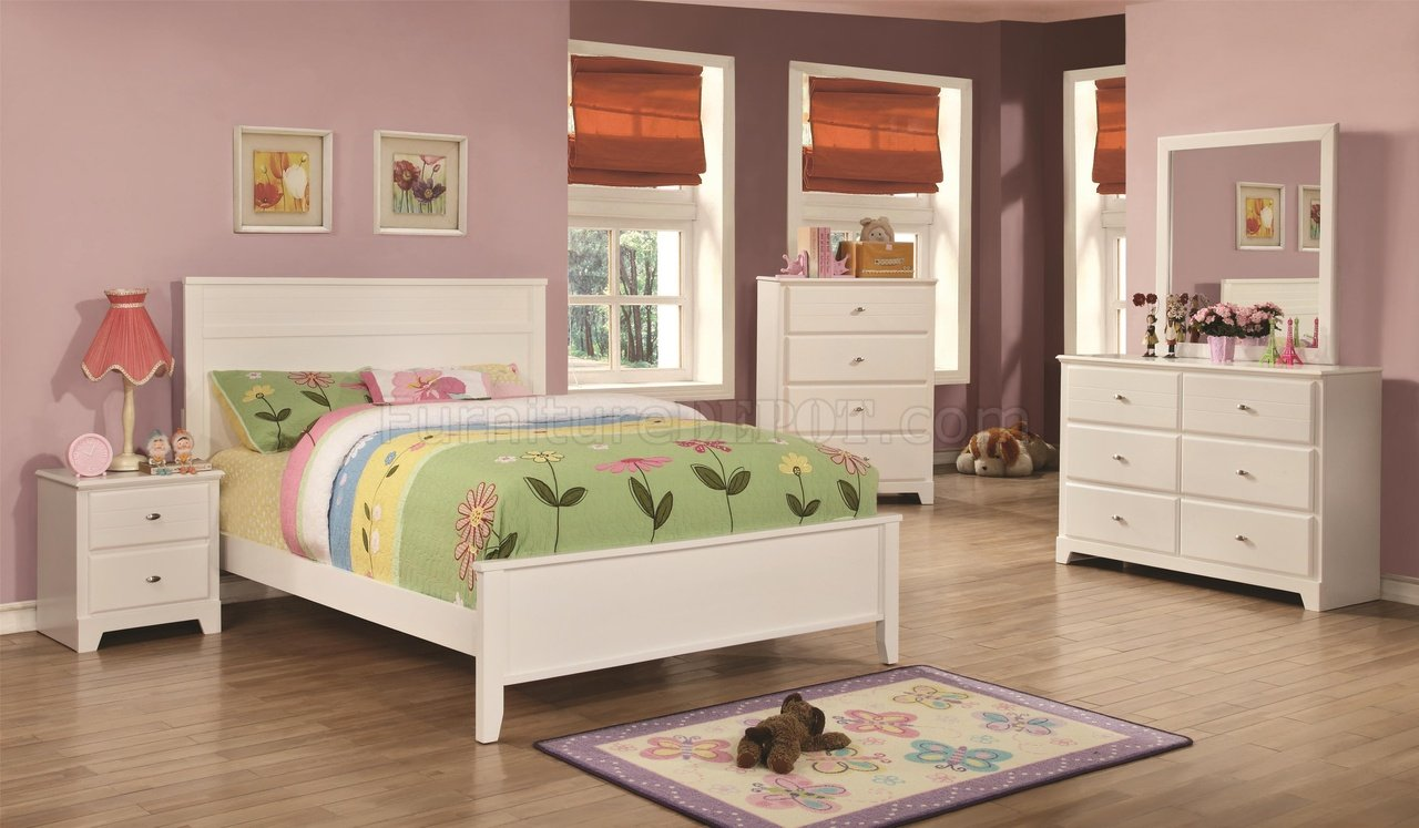 400761 ashton kids bedroom 4pc set in whitecoaster w
