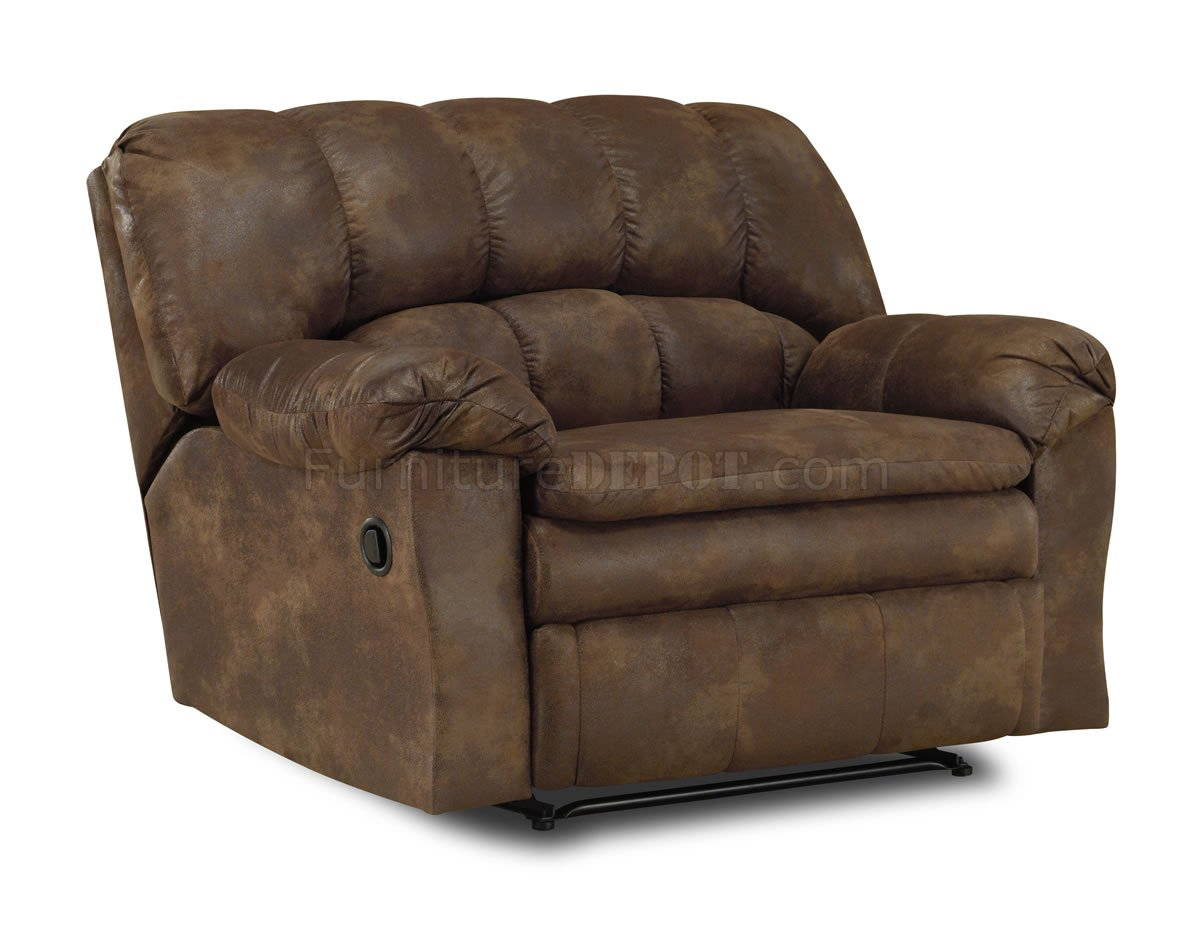 Saddle special treated microfiber reclining sofa loveseat Loveseats with console