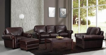 Reviews Leather Italia Dark Brown Yuma Sofa Loveseat Set W Options