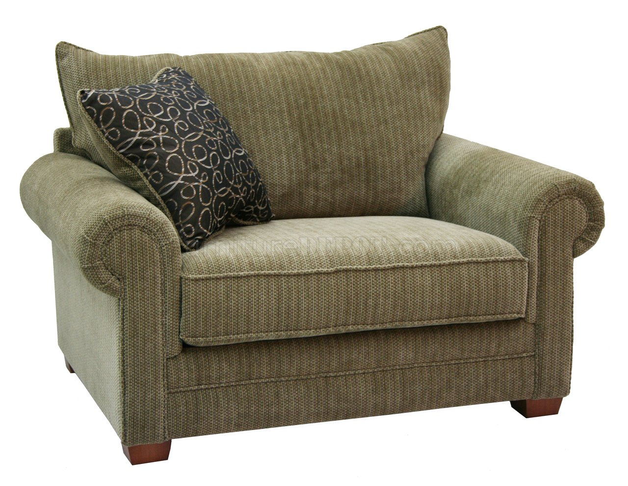 Multi tone chenille fabric modern sofa loveseat set w Fabric sofas and loveseats