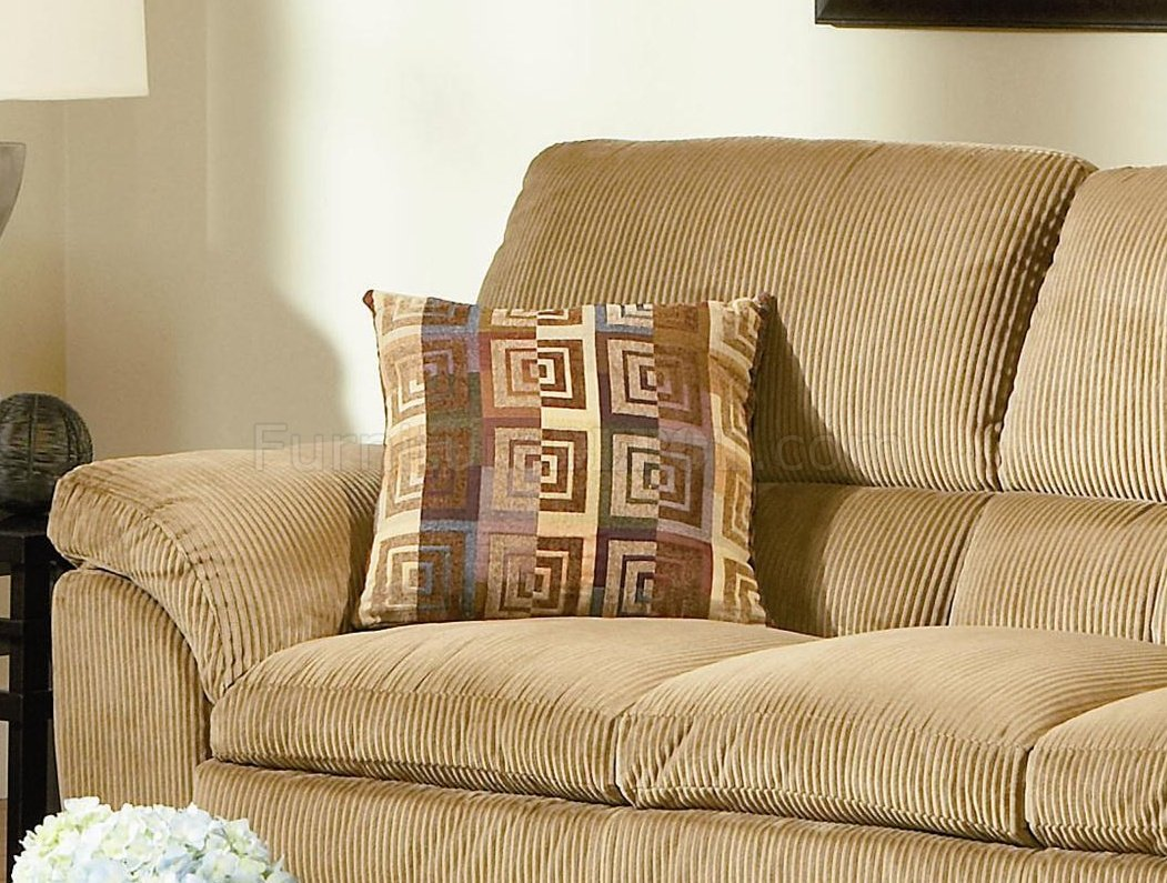 Corduroy Fabric Casual Living Room 502421 Camel