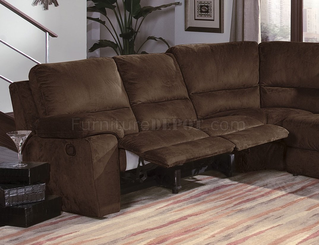 Dark Chocalate Micro Suede Contemporary Reclining