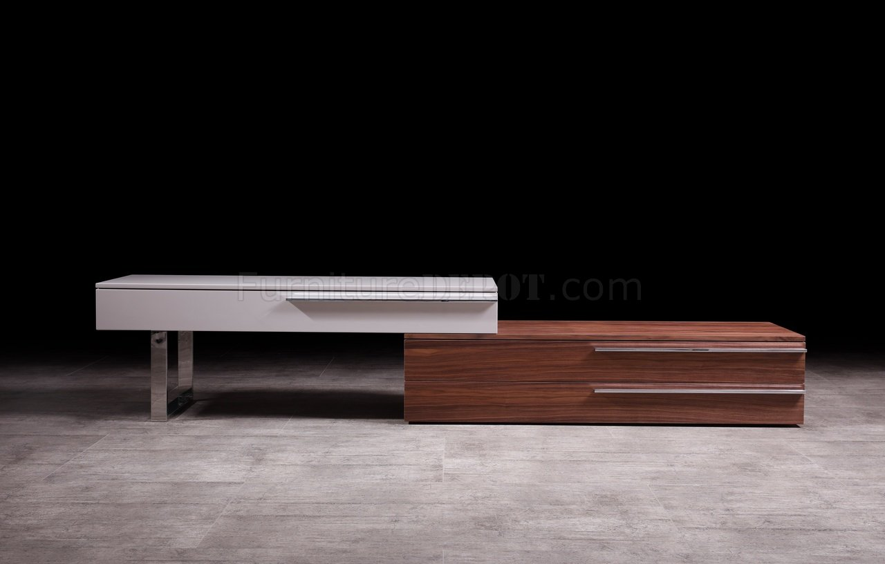 Hudson Tv Stand In Walnut Taupe By J M Furniture
