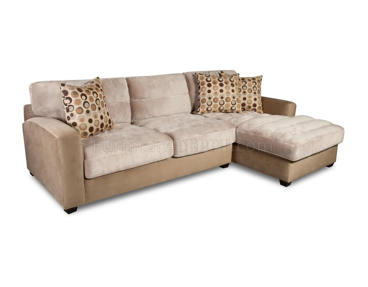 Cream bella coffee fabric elegant contemporary sectional sofa Cream fabric sofa