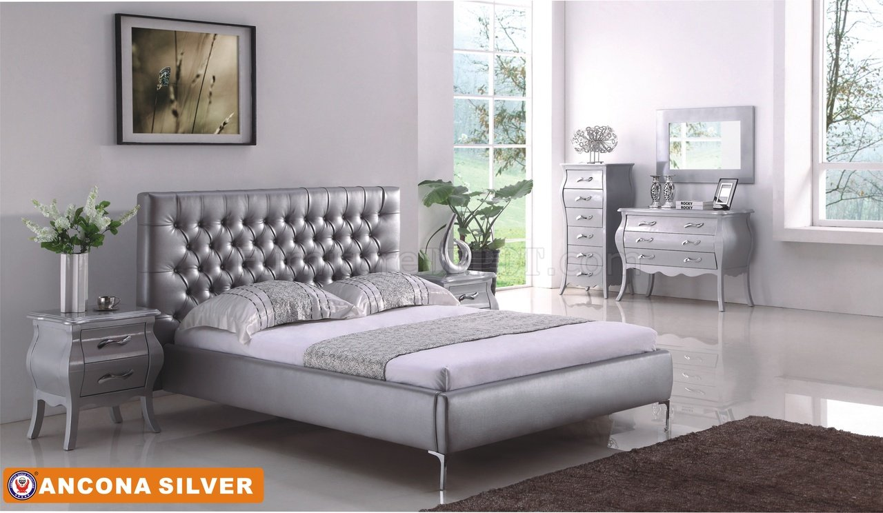 ... Bedroom in Silver Tone by American Eagle w/Options AEBS Ancona Silver