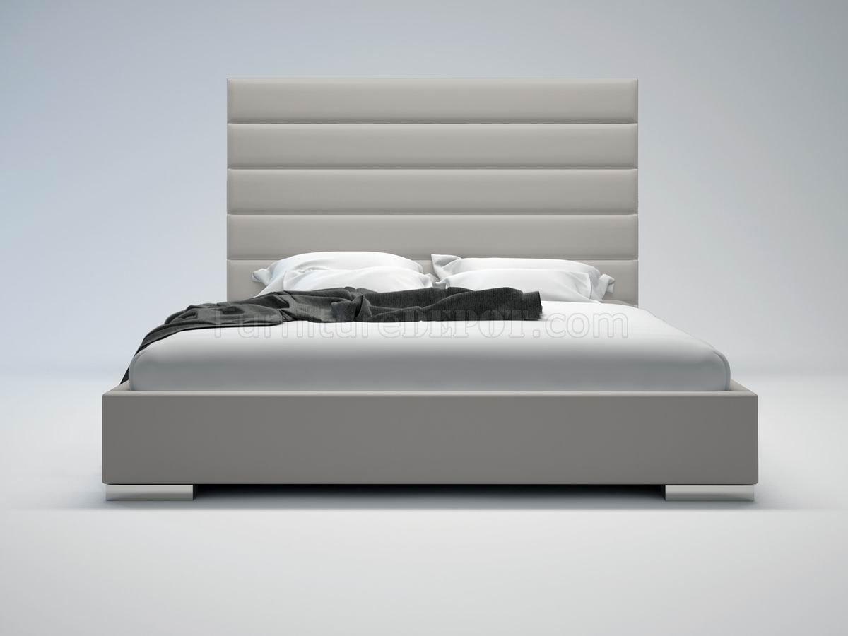 Prince Grey Bed by Modloft with Oversized Headboard
