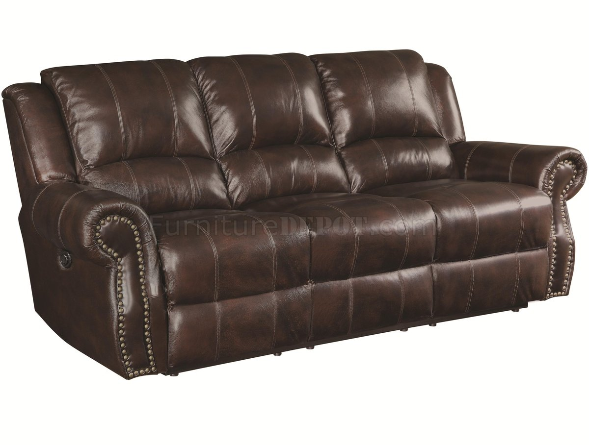 Sir Rawlinson Motion Sofa 650161 Brown Leather Match By