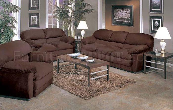 2 Piece Oversized Sofa & Loveseat Set in Espresso Micro Suede