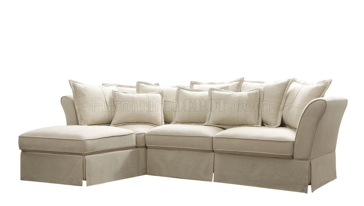 500910 Karlee Sectional Sofa by Coaster in Linen Fabric  sc 1 st  Furniture Depot : linen sectional sofa - Sectionals, Sofas & Couches