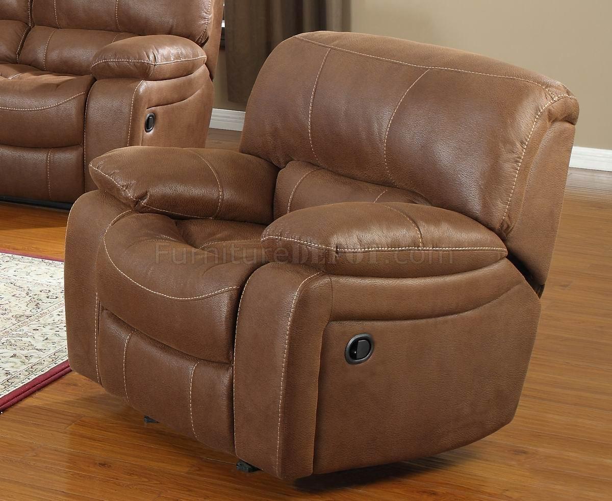 Chocolate Bonded Leather Modern Motion Loveseat Sofa W Options