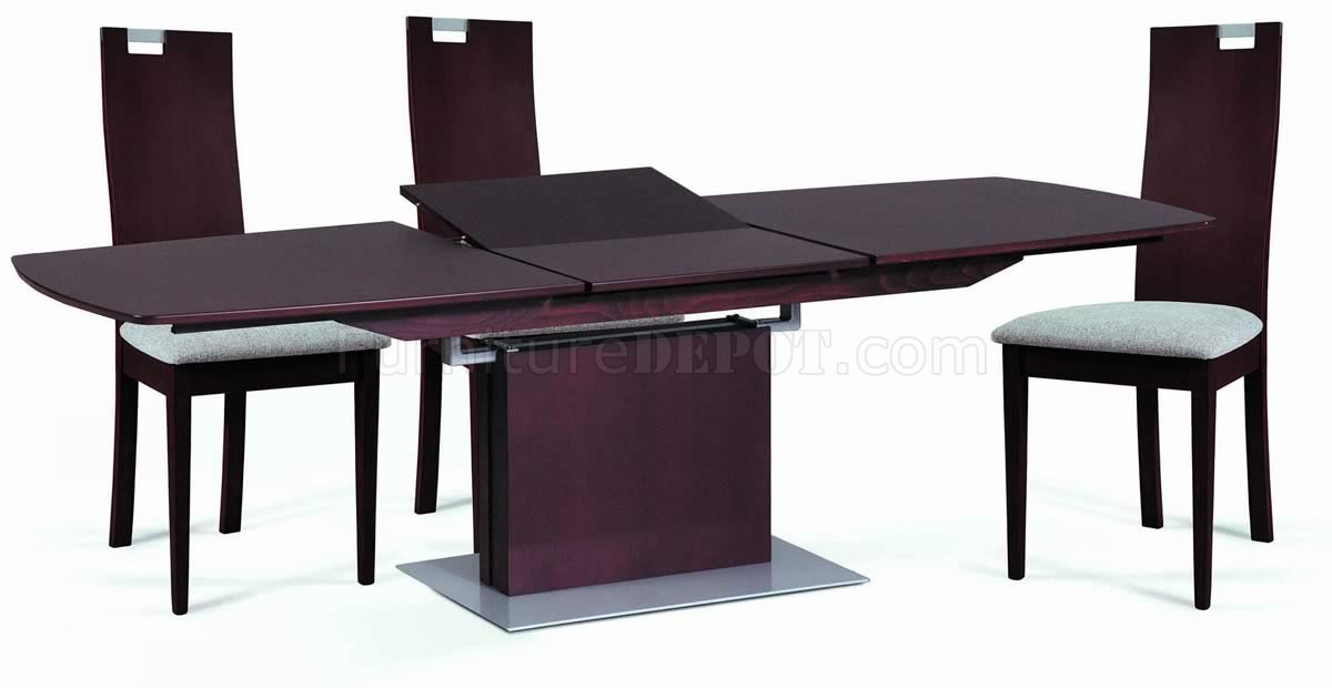 Burn Beech Modern Dining Table w/Pedestal Base & Optional Chairs NSDS