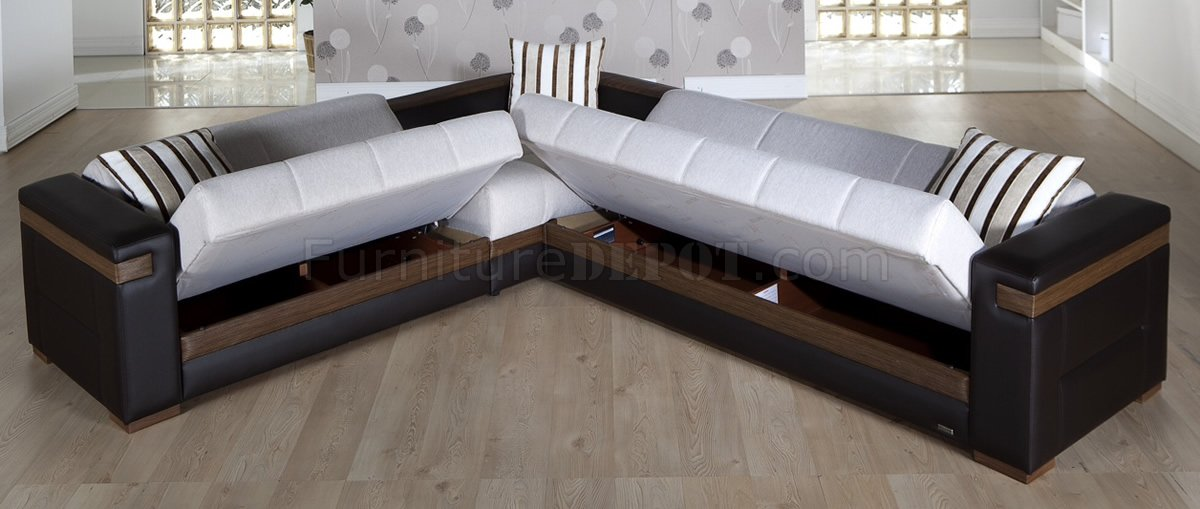 sofa sleeper sectional leather cream fabric dark leatherette convertible bed sale modern