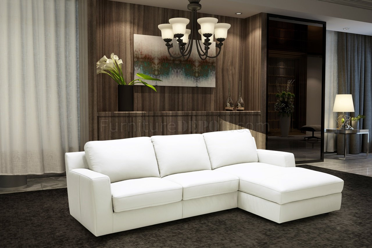 alexis sectional sofa sleeper in premium leather by j m. Black Bedroom Furniture Sets. Home Design Ideas