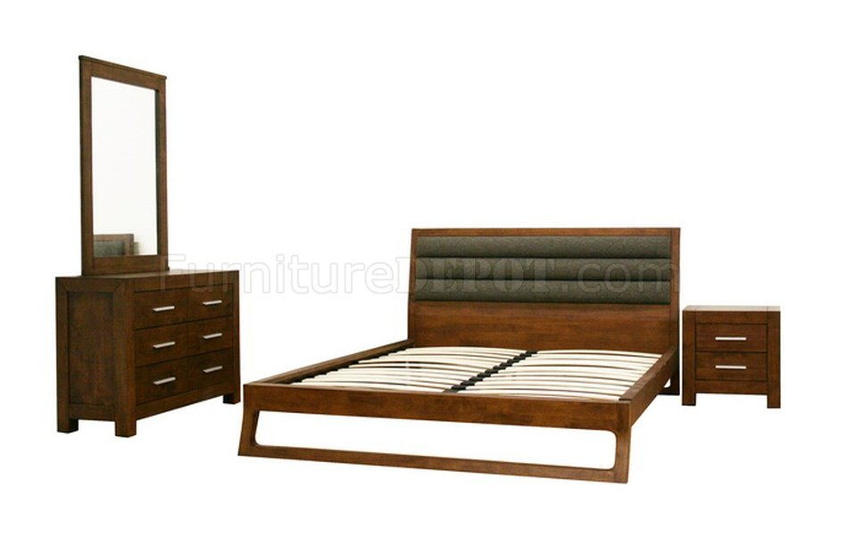 Bedroom Set in Brown by Wholesale Interiors w/Platform Bed