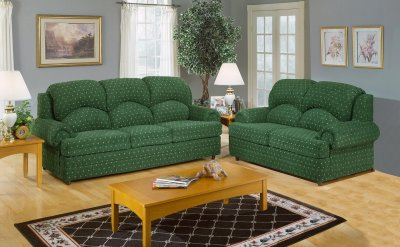 Living Room Sofa  on Sage Fabric Living Room Sofa   Loveseat Set W Rolled Arms At Furniture
