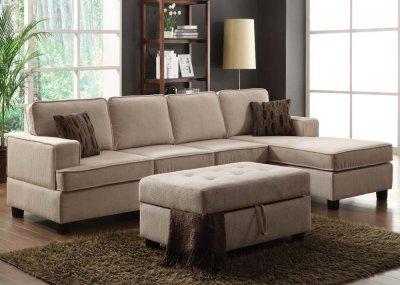50550 Lavenita Reversible Sectional Sofa Buckweat Fabric