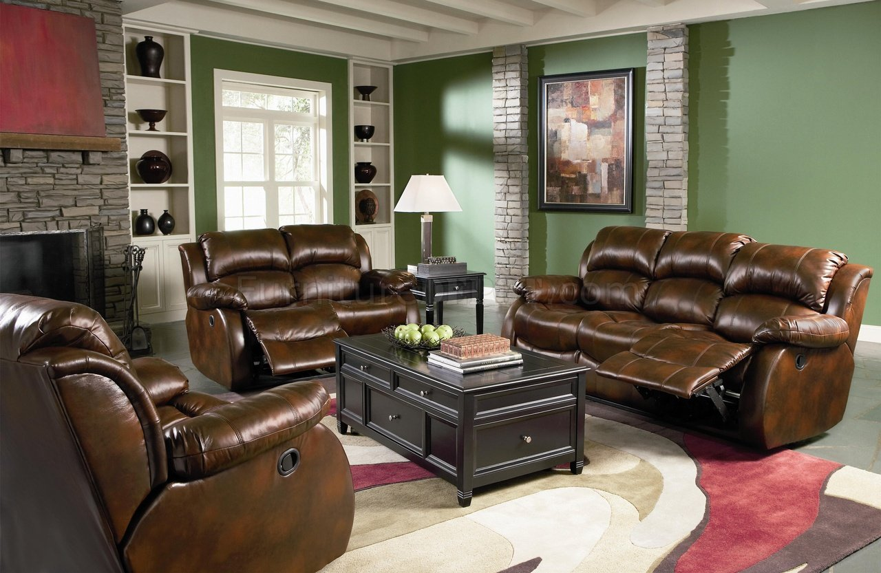 Dark Brown Full Bonded Leather Casual Living Room Sofa w/Options