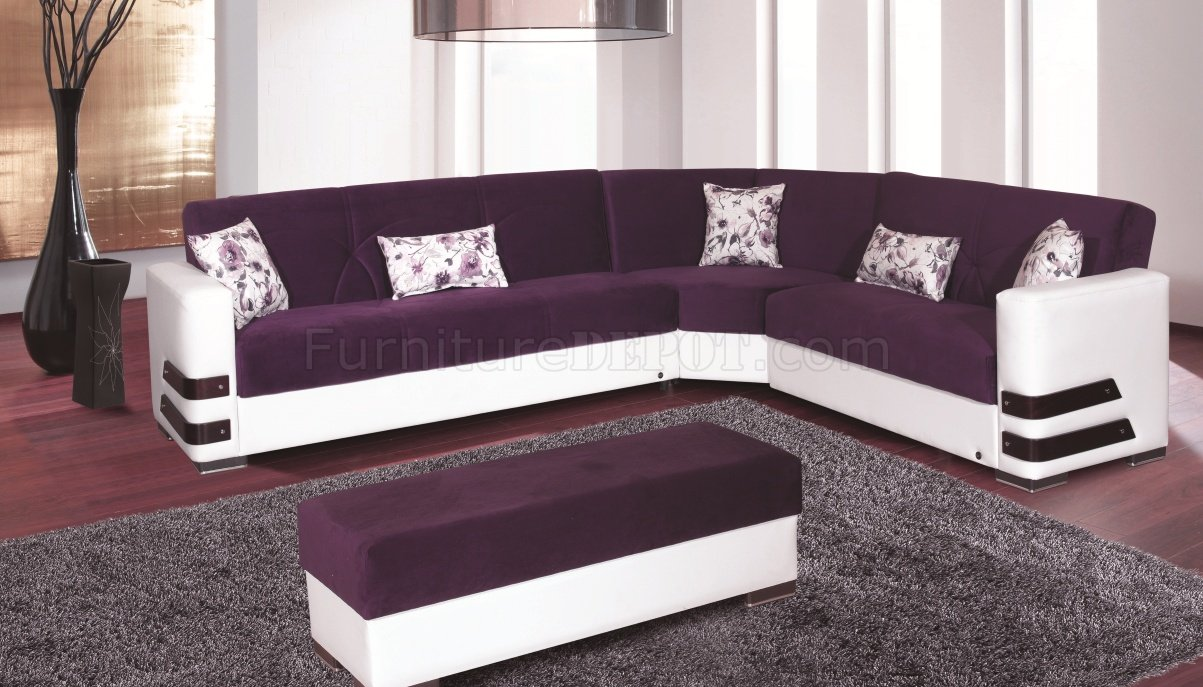 : purple sectional couch - Sectionals, Sofas & Couches