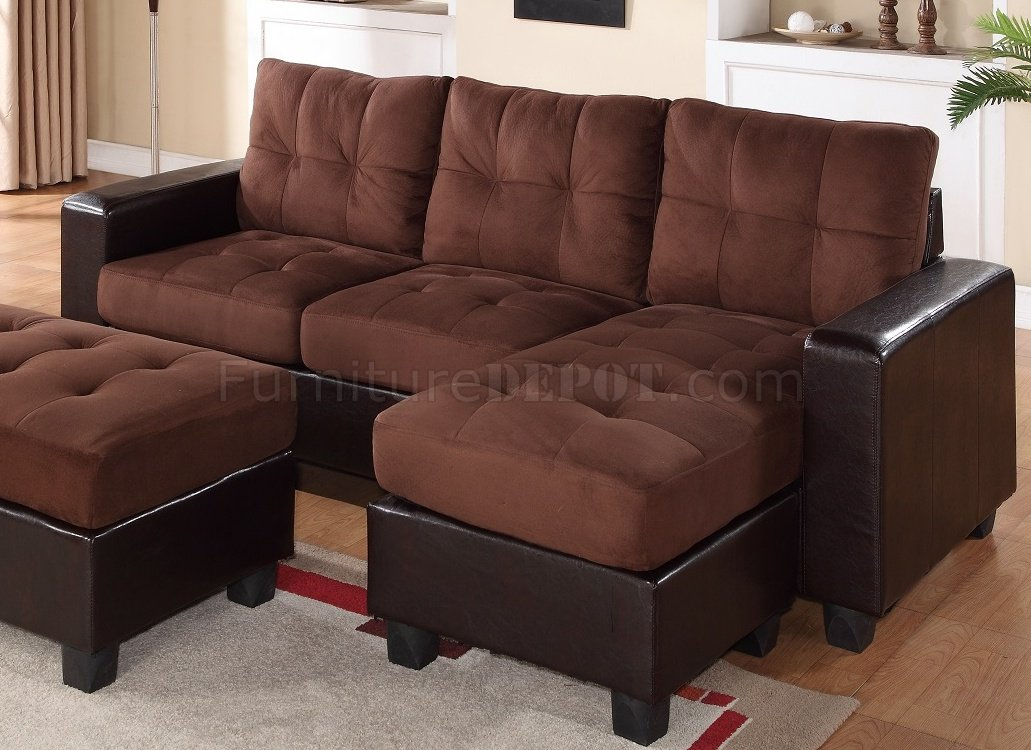 2500 Sectional Sofa Set In Dark Brown Bi Cast Brown