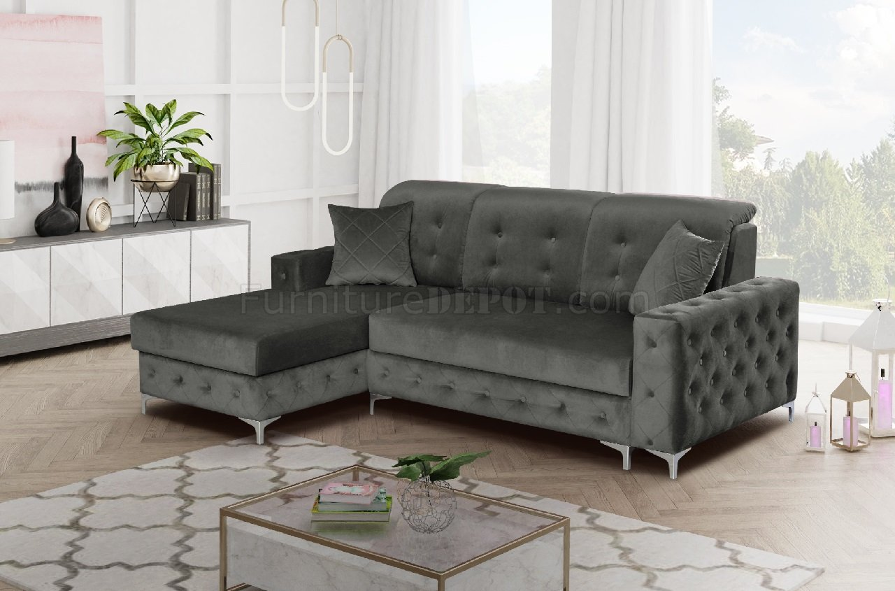Prime Verso Mini Sectional Sofa In Gray By Skyler Design Onthecornerstone Fun Painted Chair Ideas Images Onthecornerstoneorg